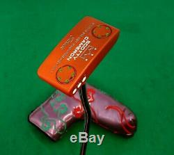 Deep Orange Cerakote Scotty Cameron Studio Select Squareback No. 1 Putter