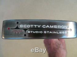 MINT CUSTOM SCOTTY CAMERON STUDIO STAINLESS LAGUNA 2.5 NEW GRIP HC WithTOOL