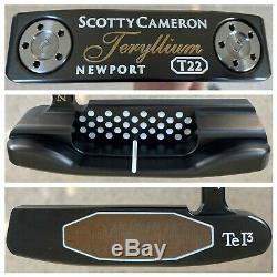 MINT Titleist Scotty Cameron 35 Teryllium Newport T22 TeI3 Putter PISTOLERO