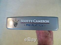 Mint Custom Scotty Cameron Pro Platinum Newport MID Slant Putter -rh 34
