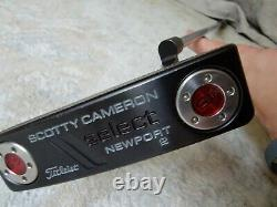 Mint Titleist Scotty Cameron Select Newport 2 34 Putter With Headcover