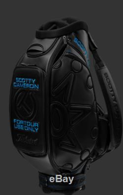 New 2019 Scotty Cameron Tour Circle T Golf Staff Bag Black Blue FTUO Titleist