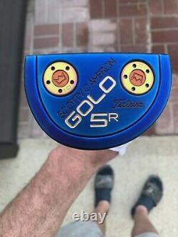 New Custom Cobalt PVD Titleist Scotty Cameron Golo 5R Weld Neck Putter
