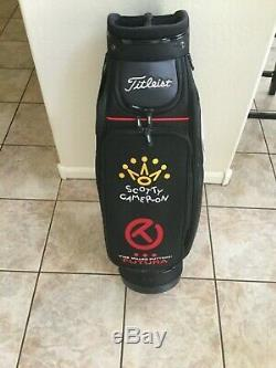New Titleist Scotty Cameron Embroidered Shop Display Staff Bag. RARE