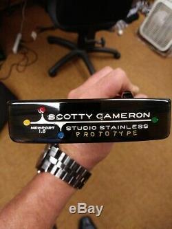 New Titleist Scotty Cameron Studio Stainless Newport Beach 1.5 Prototype Putter