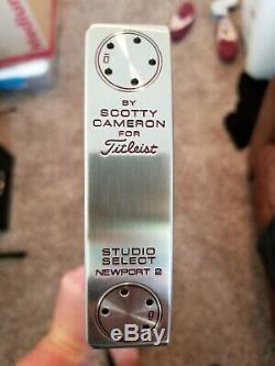 New in Plastic RH Titleist Scotty Cameron Studio Select Newport 2 35 inch
