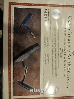 RARE SCOTTY CAMERON SCM BLADE BLANK SOLE SWEET STICK w COA b4 TITLEIST PUTTER