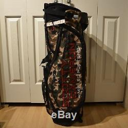 SCOTTY CAMERON Camo Stand Bag Titleist Circle T CT Red Staff Carry New
