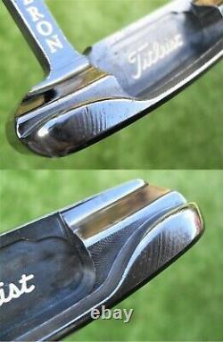 Scotty Cameron 1996 Gun Blue Newport Putter With Black Titleist Script Headcover