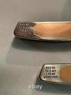Scotty Cameron 1998 XPERIMENTAL Proto-Type 303SS TeI3 MS & LS Pair of Putters