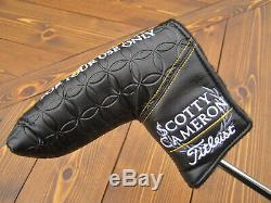 Scotty Cameron 2019 TOUR ONLY Black Newport T22 Terylium CIRCLE T 35 340G