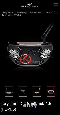Scotty Cameron For Tour Use Only Teryllium T22 Fastback 1.5 Circle T withCOA