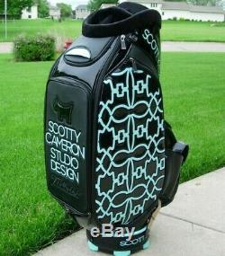 Scotty Cameron GSS Scotty Dog Tiffany Houndstooth Tour Staff Bag- NEW