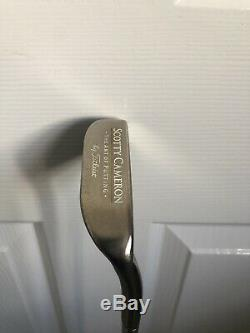 Scotty Cameron Platinum Napa Putter With Leather Grip And Matching Head cover
