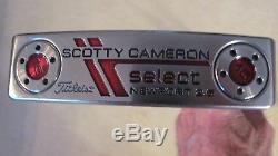 Scotty Cameron Select Newport 2.5 Putter Excellent 34 -gp Tour Sensor Grip