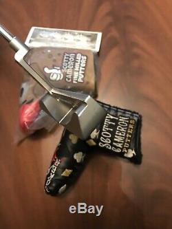 Scotty Cameron Studio Stainless Laguna 2.5 putter With 2 Covers Titleist 35