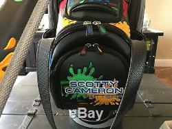 Scotty Cameron TOUR ONLY Paintsplash Staff Bag 2010 RARE Titleist