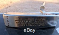 TIGER WOODS SCOTTY CAMERON TITLEIST PUTTERS 2000 US British Opens 2001 Masters