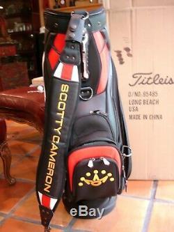 TITLEIST Scotty Cameron Tour Staff Golf Bag w Rain Hood Limited