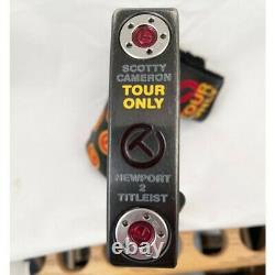 TOUR VAN Titleist Scotty Cameron CIRCLE T Newport 2 BLACK RARE MINT-NO FAKE