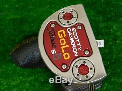 Titleist Scotty Cameron 2014 GoLo S5 33 Putter with HC Super Stroke Excellent