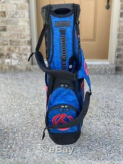 Titleist Scotty Cameron Circle T Tour Blue And Pink Wave Dog Stand Bag Golf Bag