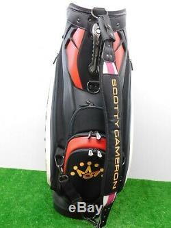 Titleist Scotty Cameron Golf Staff Bag Black/White/Red 6-Way W Rainhood New