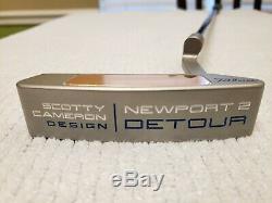Titleist Scotty Cameron Newport 2 Detour Copper Insert Conversion Button Back