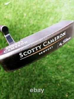 Titleist Scotty Cameron Newport LH putter with scotty cameron red cover