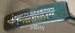 Titleist Scotty Cameron Studio Stainless Newport 1.5 Prototype Flow Neck Putter