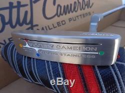 Titleist Scotty Cameron Studio Stainless Newport Beach Cut 36 Milled Putter RH